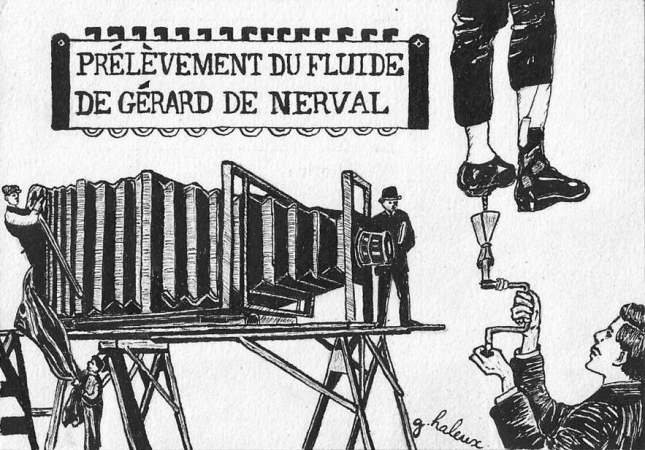 GREGORY HALEUX –PRELEVEMENT DU FLUIDE GERARD DE NERVAL
