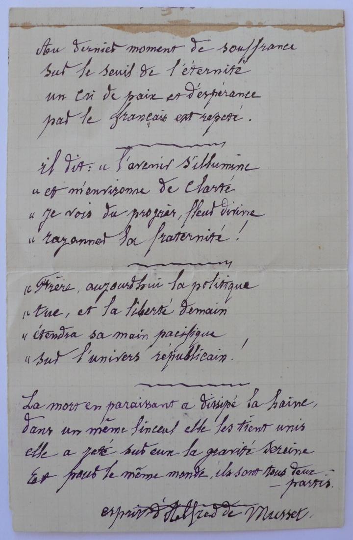 Poesie d'Alfred de Musset