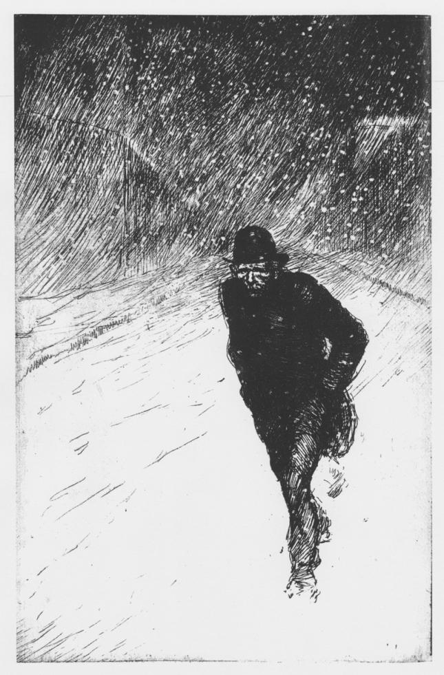 Steinlen - Vagabond sous la neige (1902) - BLOG