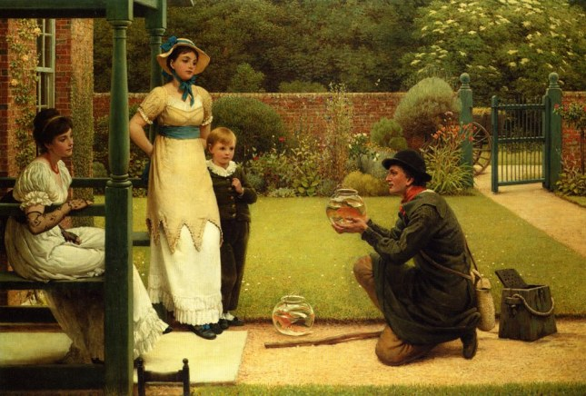George Dunlop, R.A., LeslieThe Goldfish Seller