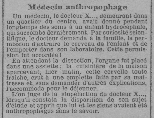 LA LANTERNE MEDECIN ANTHROPOPHAGE 3:1:04