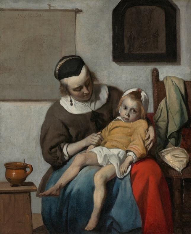 gabriel-metsu-het-zieke-kind